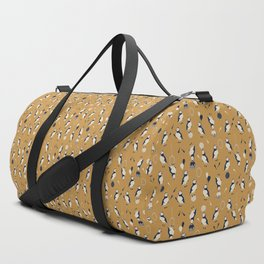 Circus of Puffins - Gold Duffle Bag