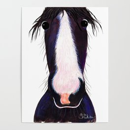 HoRSe PRiNT, ANiMaL PRiNT ' ANDY ' BY SHiRLeY MacARTHuR Poster