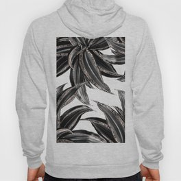 Tropical Leaves with Rose Gold Glitter #1 #shiny #tropical #decor #art #society6 Hoody