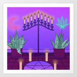 Ultraviolet Temple Art Print