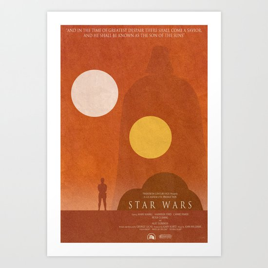 A New Hope Movie Poster Art Print