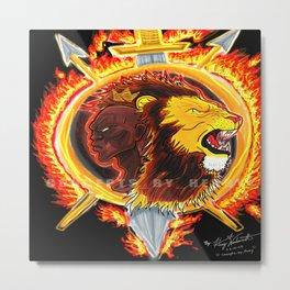 Burning Wrath of a King Metal Print