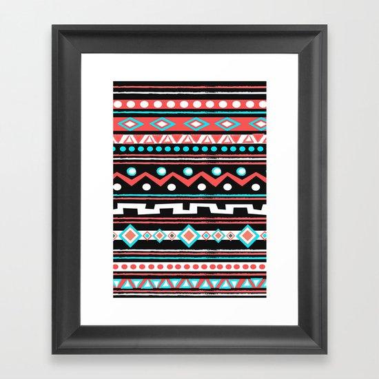 BLACK TIPI Framed Art Print
