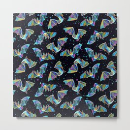 Pastel Party Bat Pattern Metal Print