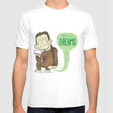 Follow Your Dreams MEDIUM Mens Fitted Tee White