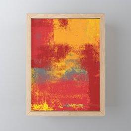 Orange Red Yellow Gray Framed Mini Art Print