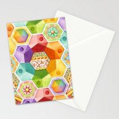 Circus Rainbow Hexagons Stationery Cards