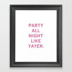 like yayer Framed Art Print