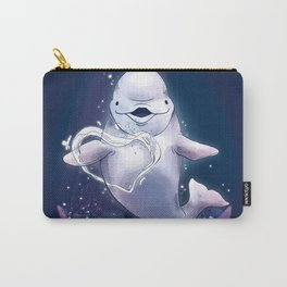 Beluga Whale Blow Kiss Carry-All Pouch