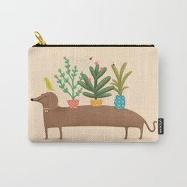 Dachshund & Parrot Carry-All Pouch
