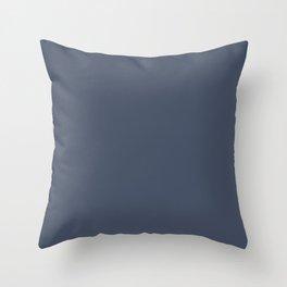 Dark Slate Blue Gray Throw Pillow