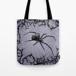 Briar Web - Gray Tote Bag