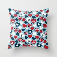 UK Hearts Throw Pillow