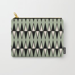 Mid Century Modern Diamond Pattern Sage Green 234 Carry-All Pouch