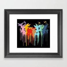 Eeveelution Framed Art Print