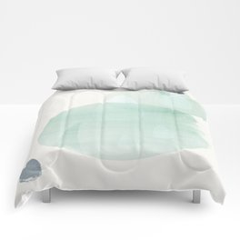 a2 society6 drops green  Comforters