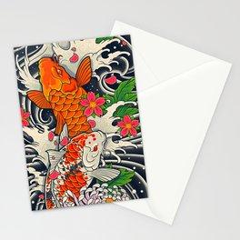 Art of Koi Fish Leggings Stationery Cards