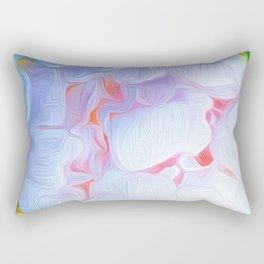Pink Peony Heart Rectangular Pillow