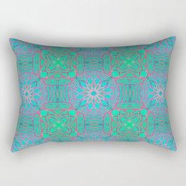 Pink Lotus Lattice Rectangular Pillow