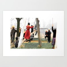 MORNING RECESS Art Print