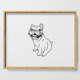 Frenchie Dog (b/w) Serving Tray