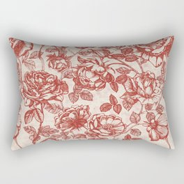 Toile de jouy (Roses) Rectangular Pillow