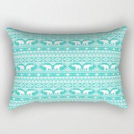 Elephant Tribal Mint Rectangular Pillow