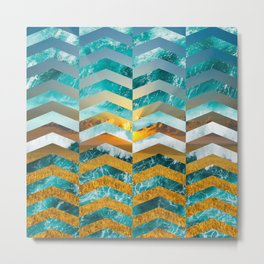 Golden Lapas -Wide Chevrons Metal Print