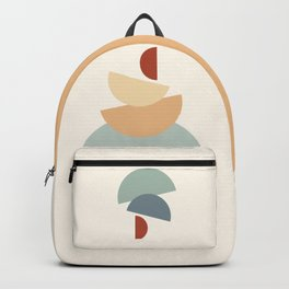Abstraction Shapes 14 in Neutral Shades (Moon Phases Abstraction) Backpack