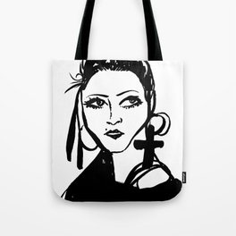 M with cross Tote Bag