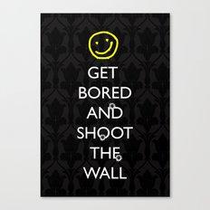 Smiley target Canvas Print