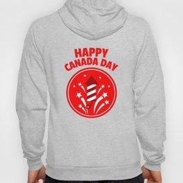 Happy Canada Day Fireworks  Hoody
