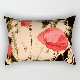 Art Poppy Rectangular Pillow
