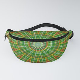 Mandala Green Red Yellow and White Fanny Pack