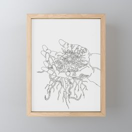 Our eyes hold the treasures of the world - As our hands hold the treasures of this earth - Line Framed Mini Art Print