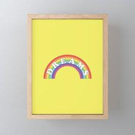 Rainbow Dreams Framed Mini Art Print