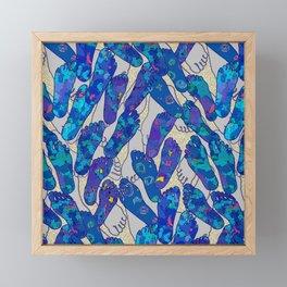 Beach Foot Traffic Framed Mini Art Print
