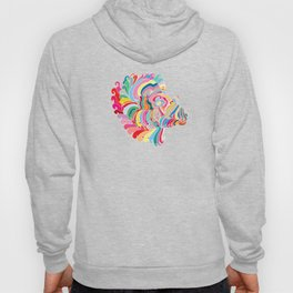 Goat in Rainbow Hoody