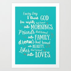 Thank God, inspirational quote for motivation Art Print