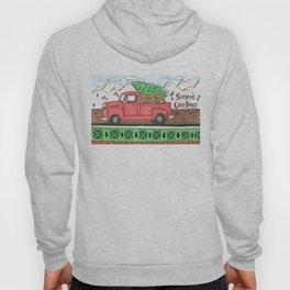 Season's Greetings Red Truck Hoody