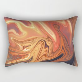 Fiery Rectangular Pillow