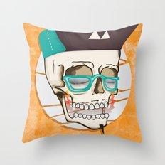 Hell Yeah Skull Throw Pillow