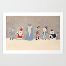 Claymation Lineup  Art Print
