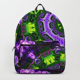 Purple Iris Mandala Backpack
