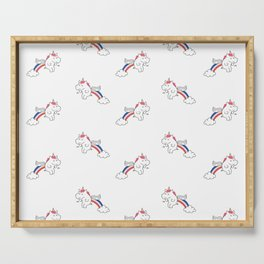 Pooping Unicorns Serving Tray