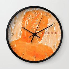 Poseidon sleeping Wall Clock
