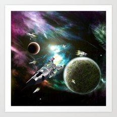 Space Fleet Art Print