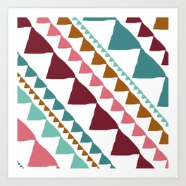 Triangle Banners Art Print