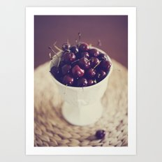 life's a bowl of cherries Art Print