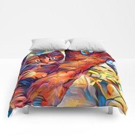 Cat in Tree Comforters
